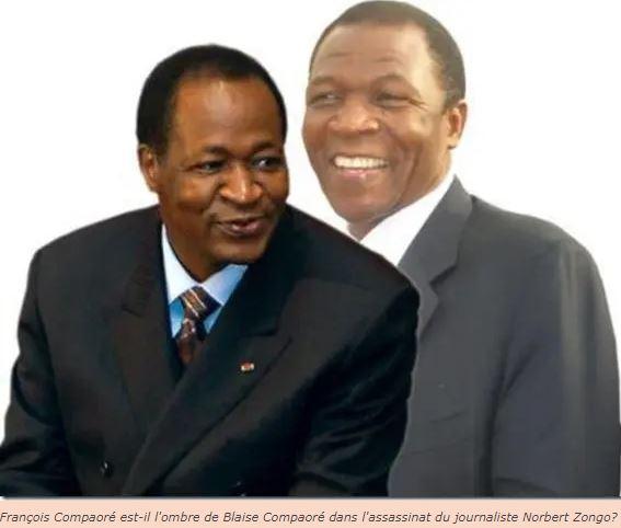 Burkina François Compaoré et Blaise Compaoré