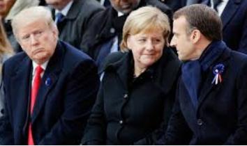 À Berlin, front uni de Merkel et Macron face à Trump