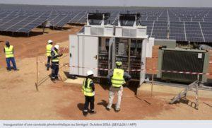 Inauguration d'une centrale photovoltaïque au Sénégal. Octobre 2016