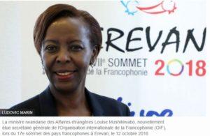 La ministre rwandaise des Affaires étrangères Louise Mushikiwabo