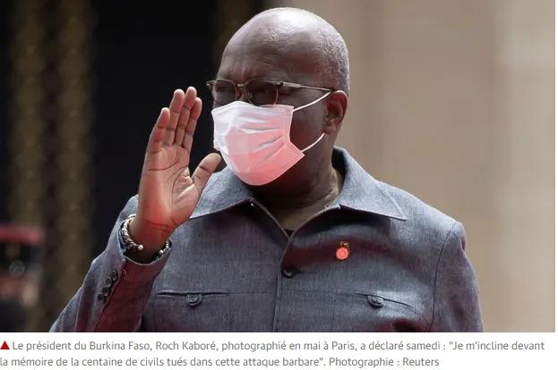 Le président du Burkina Faso Roch Kaboré