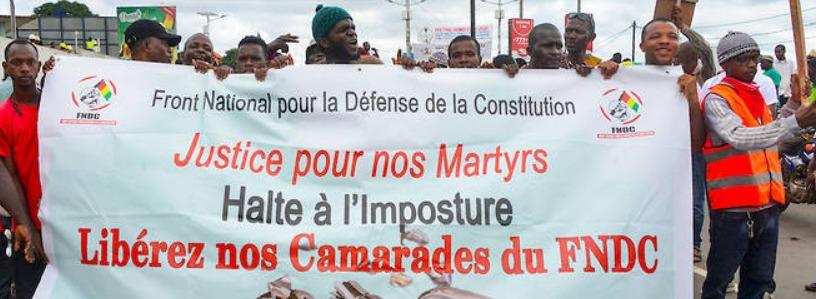 Guinée neuf mois après des vagues d'arrestations massives