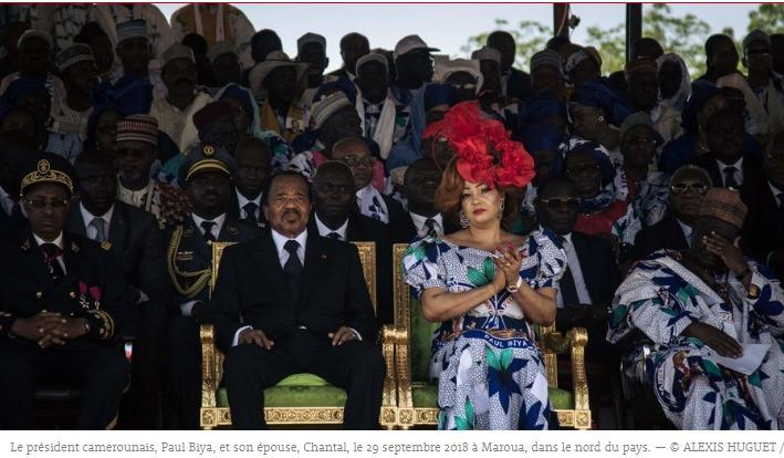 Le Président de la République et Madame Chantal BIYA
