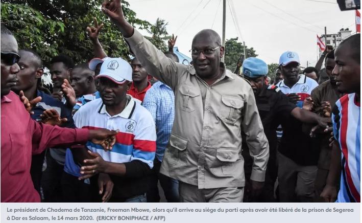 Le président de Chadema de Tanzanie