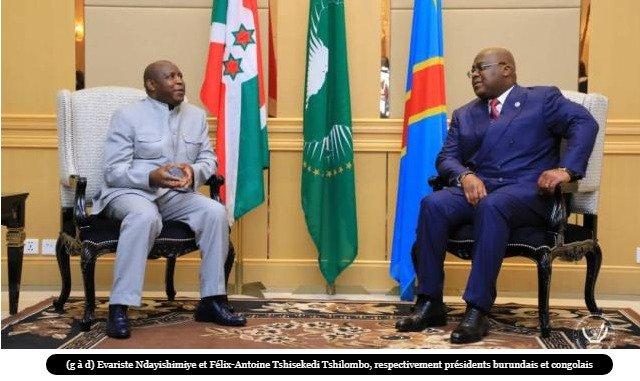 les chefs d'Etat congolais et burundais