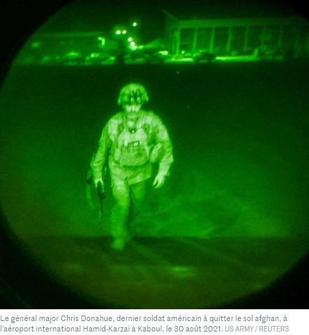 Le général major Chris Donahue dernier soldat américain à quitter le sol afghan