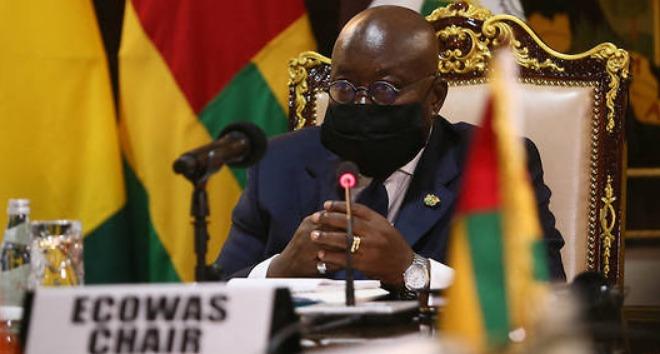 Le chef de l'État du Ghana et président en exercice de la Cedeao